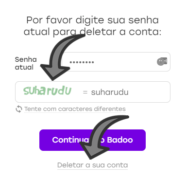 como excluir conta do badoo 2018