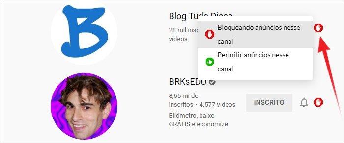 Bloquear anúncios do YouTube