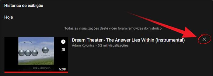 Como apagar histórico do YouTube