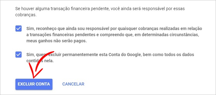Como excluir conta do Google celular