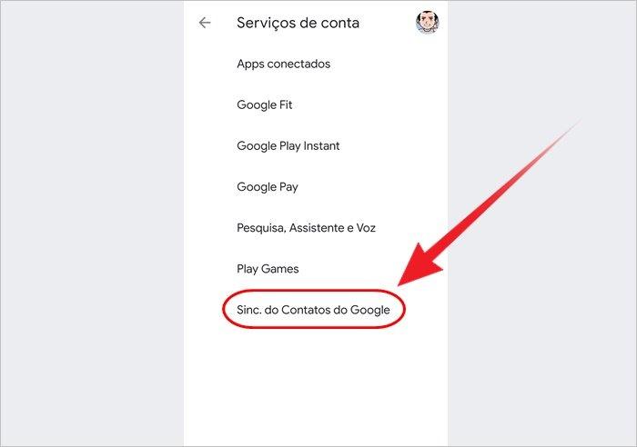 Como salvar contatos no Google Drive