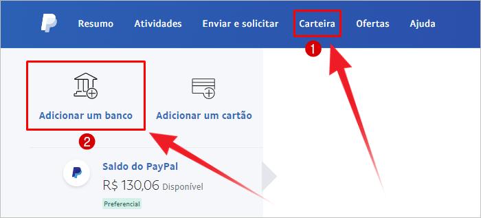 Receber dinheiro PayPal conta bancária