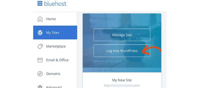 Installa WordPress su Bluehost - Come avviare un blog