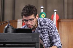 Raphael Godilho, médico com MBA em Marketing e conselheiro no portal Empreender Saúde, dá dicas de como monetizar os blogs. Foto: Alex Nunes