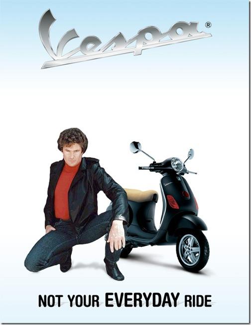 vespa scooter ad concept