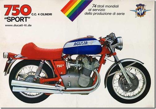 Brochure Vintage MV Agusta 750 S 2