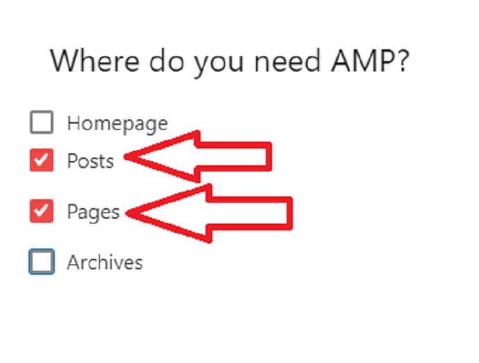 Configure where do you need to install AMP