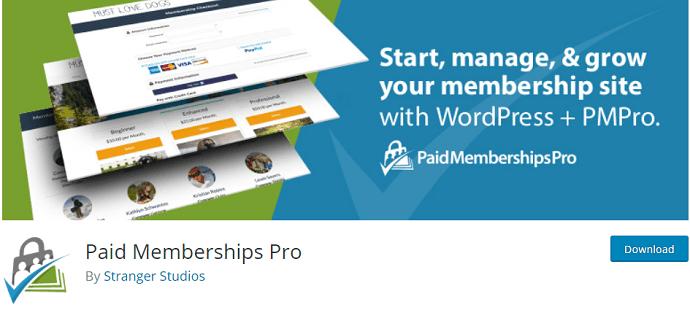 Paid Memberships Pro (MemberPress Alternatives)