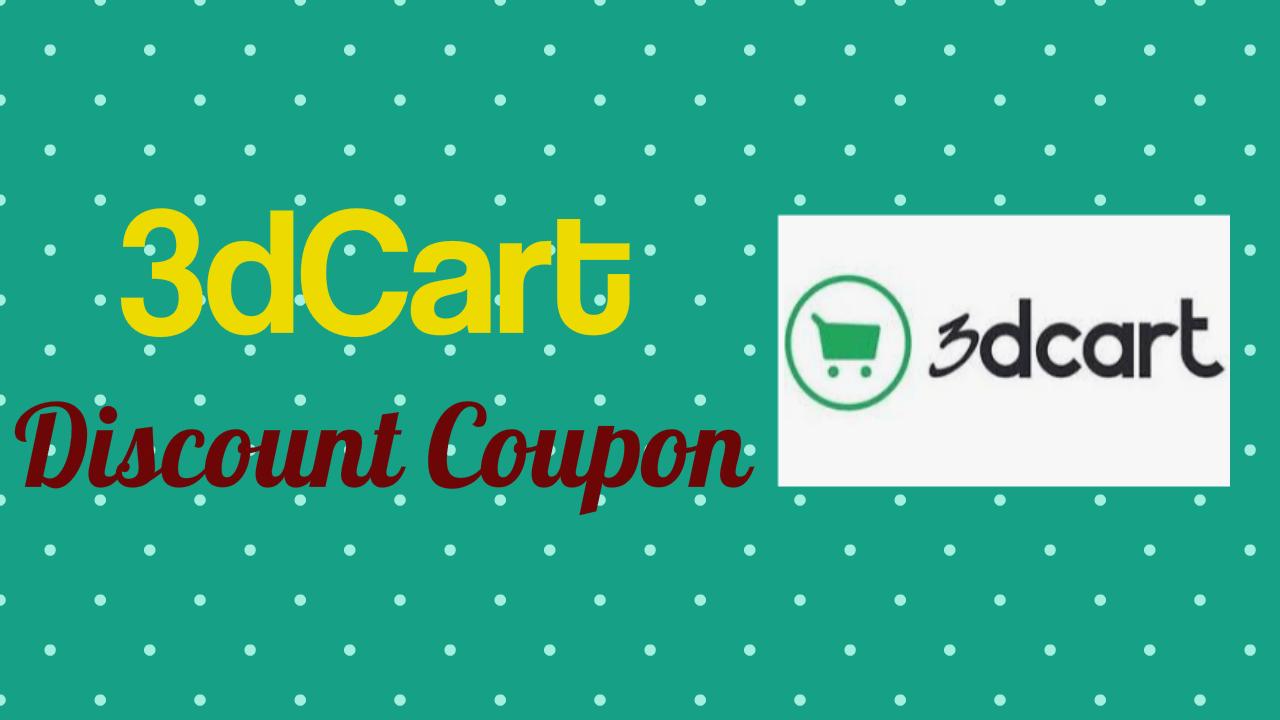 3dCart Discount Coupon