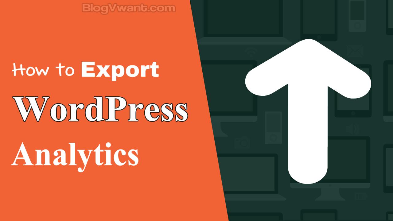 Export WordPress analytics