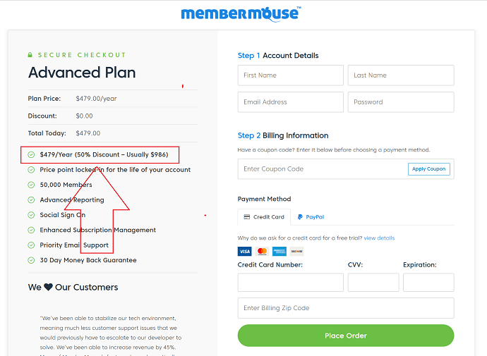 MemberMouse Advanced Discount Coupon Code