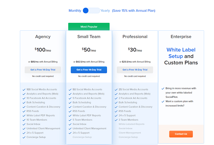 social pilot pricing and plans - best sprout social competitiors