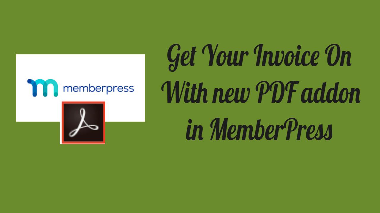 Pdf addon in MemberPress