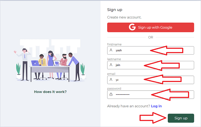 Step 2 Login or Signup to GetEmail