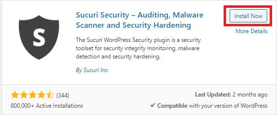 Step 1 Install the Sucuri Security Free Plugin from the WordPress Plugin Repository