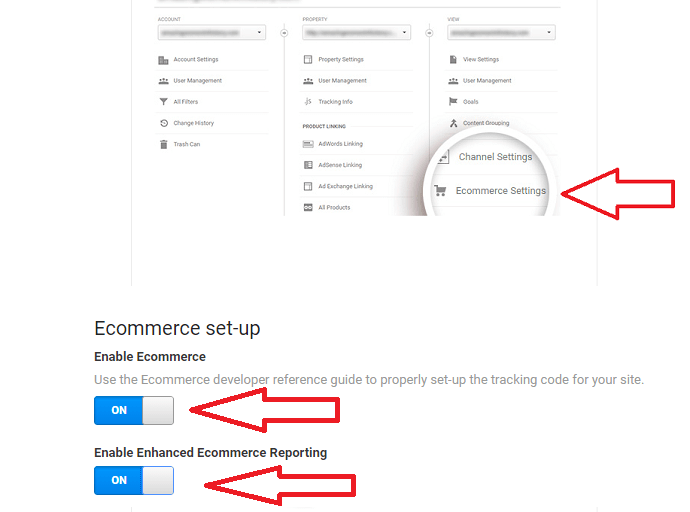 Step 1 Enable Enhanced eCommerce Tracking in Google Analytics