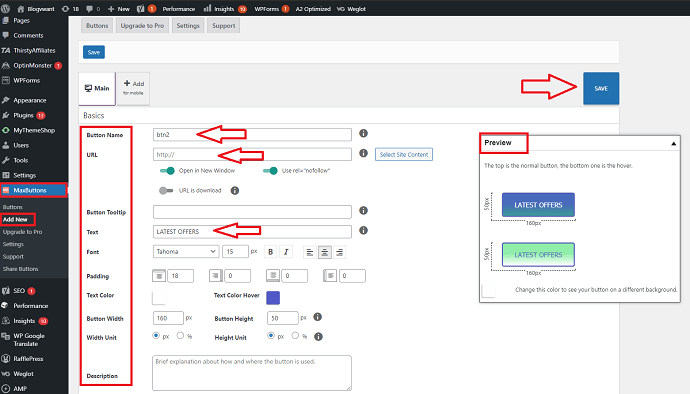 Step 2 Create a Button to Add to WordPress Header