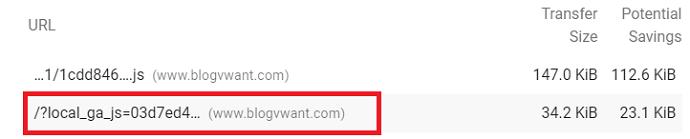 Removing Google Analytics unused java script is not a safe option
