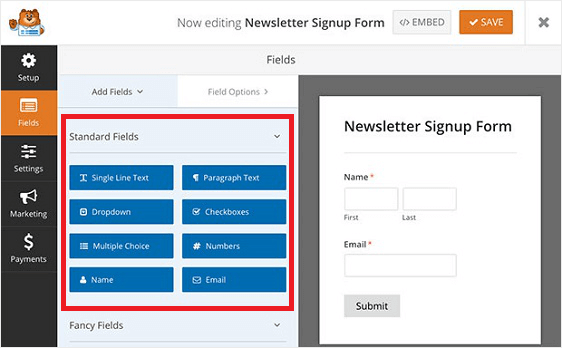 Step 6 Add or Edit the Form Template Fields