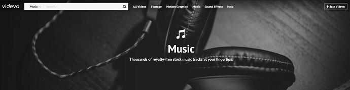 Website 1 - Videvo.net - Free copyright music