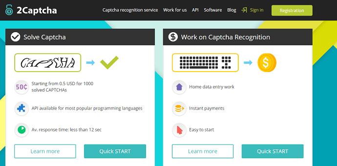 2Captcha - Captcha Solver Services