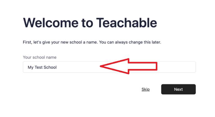 Teachable Setup - Step 1
