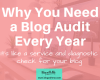 How to do a blog audit to improve your blog's shareability, blog speed, traffic and overall user experience.