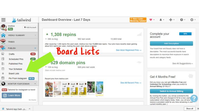 Tailwind App Board lists tutorial
