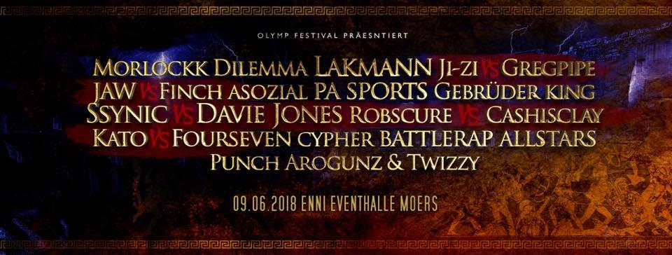 OLYMP Festival Kampf der Titanen Banner