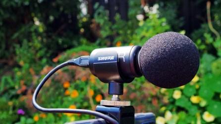 Detailansicht des Mikrofons
