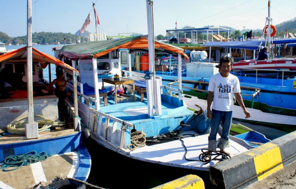 Boat to go to the Komodo islands