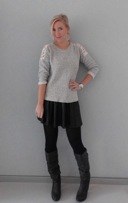 OOTD-outfit-sweater-trui-en-skirt-rokje-high-heels-boots-zara-stradivarius-primark-casual-chic-comfy-1