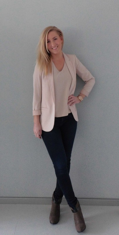 ootd-outfit-of-the-day-what-im-wearing-colbert-jacket-pink-nude-roze-basic-classic-jeans-denim-boots-budget-4