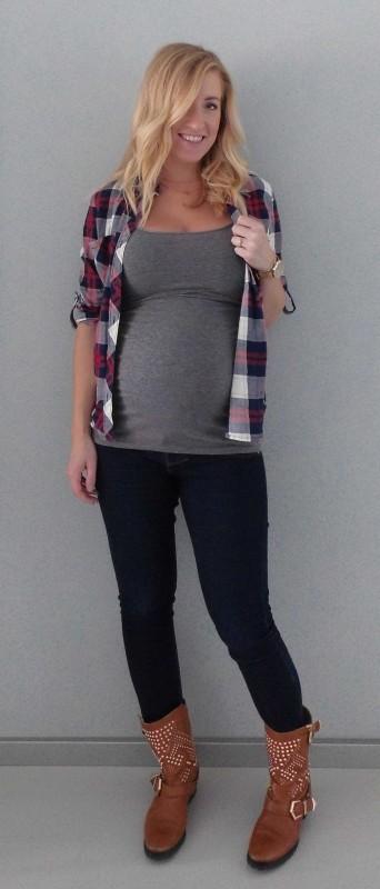 OOTD-outfit-of-the-day-zwanger-zwangerschap-positiekleding-buik-houthakkersblouse-jeans-boots-3