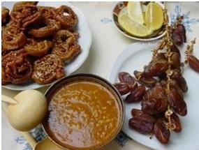 Tradiciniai Ramadano pusryčiai.