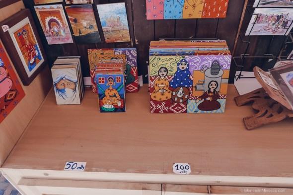 Ensemble Artisanal paintings moroccan paintings