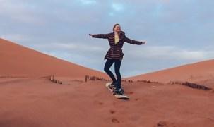 desert, sahara, surfing, girl, blondie, dunes, sand