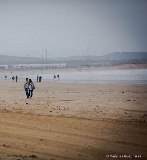 essaouira, beach, ocean, walk, people