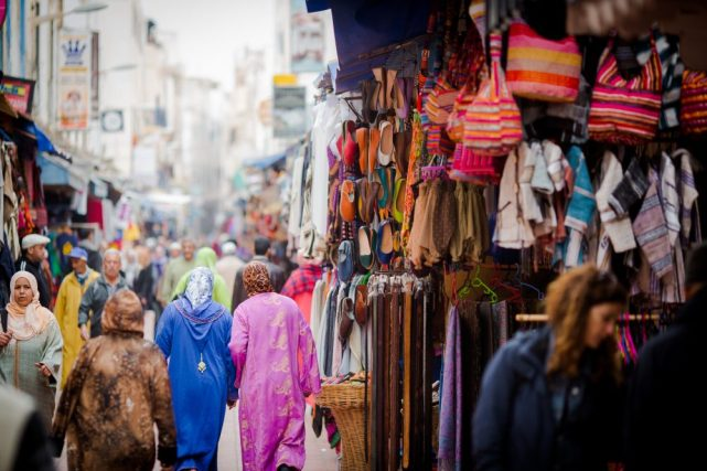 essaouira, medina, street, people, shops