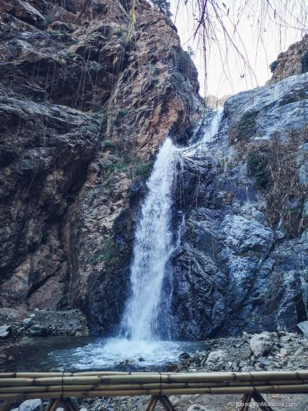 waterfalls, ourika valley, mountains, morocco