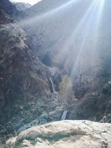 waterfall, mountain, morocco, nature, high atlas, ourika valley