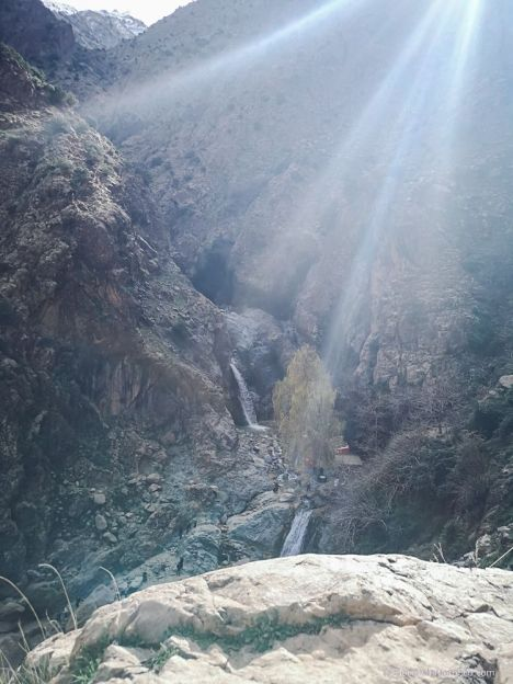 waterfall, mountain, morocco, nature, high atlas, ourika valley