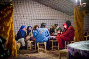 morocco, desert, camp, tent, dinner, people