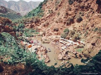 ouzoud, waterfall, river, lake, people