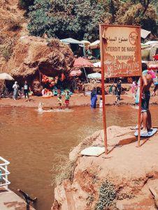 ouzoud, waterfall, river, lake, swimming