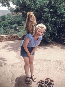 monkey, forest, morocco, people, ouzoud, girl, blondie