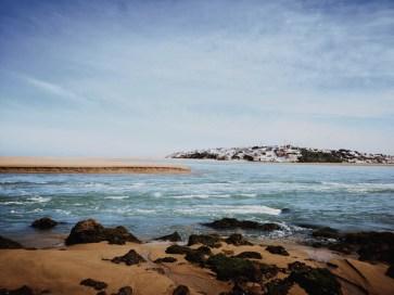 beach morocco sand water birdwatching