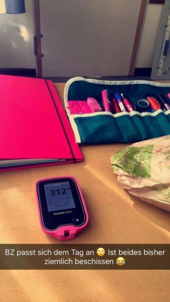 Diabetesutensilien pink