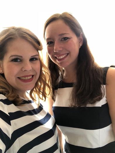 Ich mit meiner Cousine in September 2018