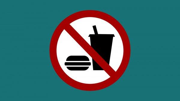 Essen verboten-Schild